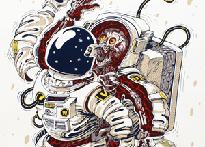 Art by Nychos - Dissection Of An Astronaut - Framed