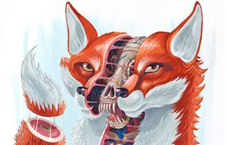 Art Print by Nychos - Dissection of a Fox