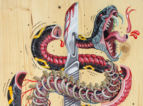 Original Art by Nychos - I Slice For Livin