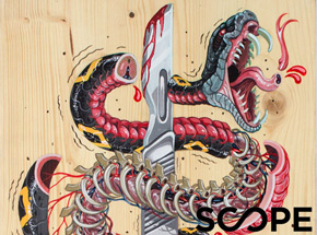 Original Art by Nychos - I Slice For Livin' - Original Art Scope NYC