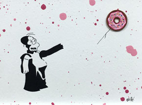 Original Art by OakOak - Banksy vs. Homer (3 of 14)
