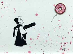 Original Art by OakOak - Banksy vs. Homer (4 of 14)