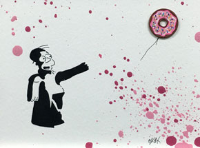 Original Art by OakOak - Banksy vs. Homer (6 of 14)