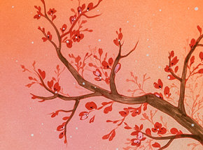Original Art by Ouizi - The Noble Plum Blossom Of Winter