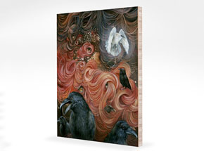 Art Print by Dan May - Where Have All The Monsters Gone? - Bamboo Panel Edition