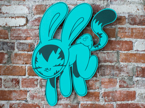 Art by Persue - Bunny Kitty Cut Out - Teal Edition
