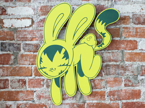 Art by Persue - Bunny Kitty Cut Out - Yellow Edition