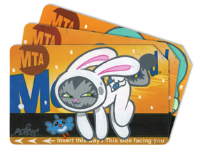 Art by Bunny Kitty - MTA Card - 3 Card Set