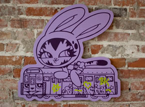 Hand-painted Multiple by Persue - Runaway Train - Purple Edition