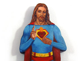 Original Art by Peter Adamyan - Jesus Saved Me From Lex Luthor - Original Painting
