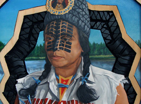 Original Art by Peter Adamyan - Honoring Chief Pontiac