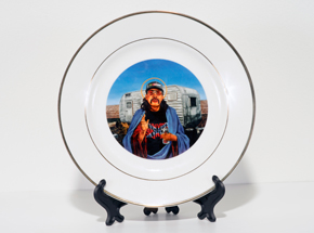 Art by Peter Adamyan - Trailer Park Jesus - Porcelain Plate