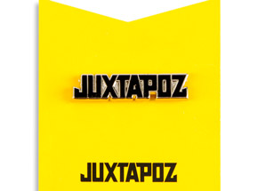 Art by 1xRUN Presents - Black Jutapoz Logo Yesterdays Pin