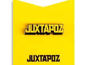 Art by 1xRUN Presents - Yellow Jutapoz Logo Yesterdays Pin