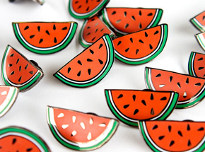 Art by 1xRUN x Yesterdays Present - Watermelon Yesterdays Pin