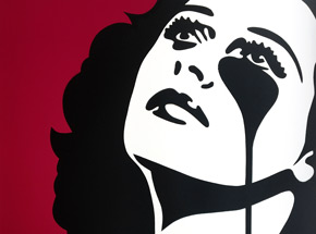 Art Print by Pure Evil - Hedy, Watch the Stars (Hedy Lamarr, The Inventor) - Standard Red Variant
