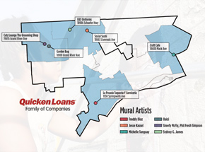 Art Collection by 1xRUN Presents - Quicken Loans Small Business Mural Project