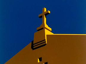 Art Print by Randy Hipke - Church - Blue