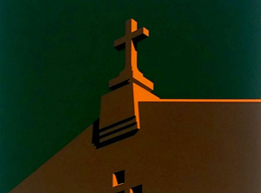 Art Print by Randy Hipke - Church - Green