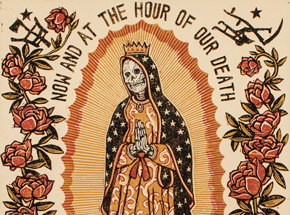 Art by Ravi Zupa - Now And At The Hour Of Our Death - Framed