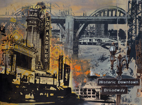 Art by Ryan Graeff - Historic Downtown Los Angeles - Framed