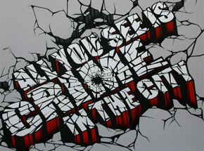 Art Print by Revok - Crime in the City