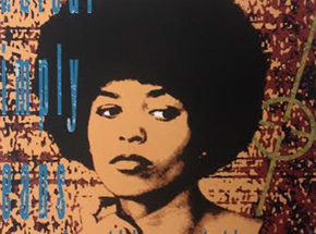 Art Print by Richard Duardo x Lekit Im - Portrait Of Angela Davis