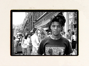 Art Print by Ricky Powell - Book + Basquiat. West Broadway From My Forozade Cart. 1986 Mini Slide
