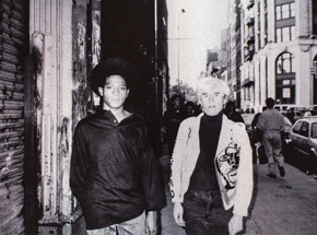 Art by Ricky Powell - Andy Warhol & Jean-Michel Basquiat Soho. NYC. 1985 -  Aluminum Edition - Framed