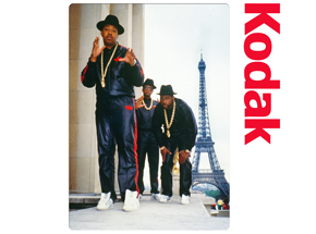 Art Print by Ricky Powell - Run DMC - Paris - 1987 - 24 x 24 Inch Edition