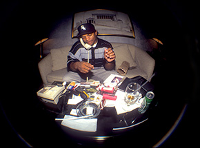 Art by Ricky Powell - Eazy E - Hilton Hotel - 1993 - Centrifugal Champipple Bubble Edition