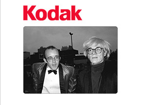 Art Print by Ricky Powell - Keith Haring and His Idol Andy Warhol. NYC. 1986 - 24 x 24 Inch Edition