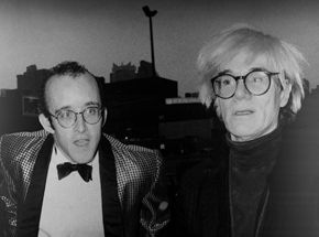 Art Print by Ricky Powell - Keith Haring and His Idol Andy Warhol. NYC. 1986 - Aluminum Edition