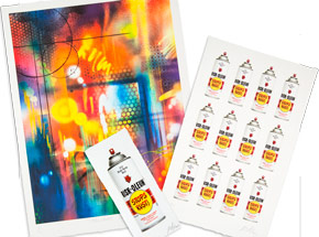 Art Print by Risk - Riskoleum Grid + Small Riskoleum Can + Collateral Damage - 3-Print Set