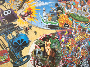 Art by Robert Williams - Death On The Boards