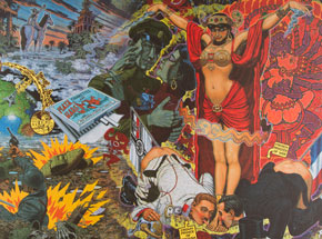 Art by Robert Williams - Mata Hari, The Hindu Priestess of the Somme, L Imagerie