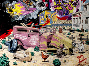 Art by Robert Williams - The Last Ride Of The Flying Purple People Eater