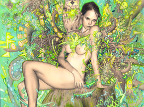 Original Art by Rodrigo Luff - Tree Nymph