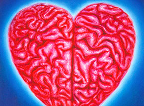 Art Print by The Heliotrope Foundation - Ron English - Heart Brain
