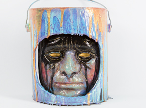 Original Art by Ron Zakrin - Bucket Head #7