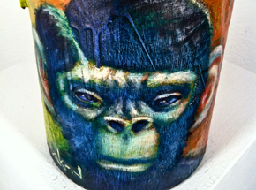 Original Art by Ron Zakrin - Certified Monkey Paste