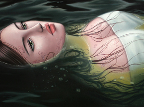 Art by Sarah Joncas - Ophelia - Framed