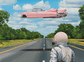 Original Art by Scott Listfield - Pink Cadillac - Original Artwork