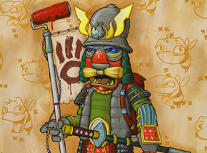Original Art by Scribe - Graffiti Samurai - Original Artwork