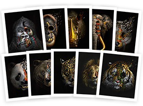 Art Print by Sonny - Complete 10-Print Set - To The Bone