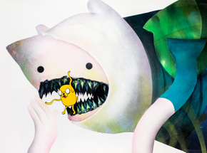Original Art by Shark Toof - Ceci N'est Pas Une Finn & Jake  - Original Painting