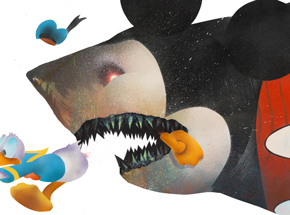 Art Print by Shark Toof - Cici N'est Pas Une Mickey Mouse