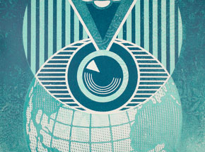 Art Print by Shepard Fairey - Flint Eye Alert Globe