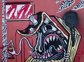 Original Art by Sheryo & The Yok - Coffin Pizza Squirts