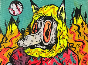 Original Art by Spencer Keeton Cunningham - Baseball Wolf